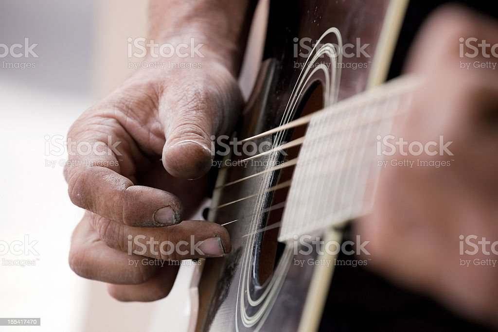 guitar plucking abstract stock photo
