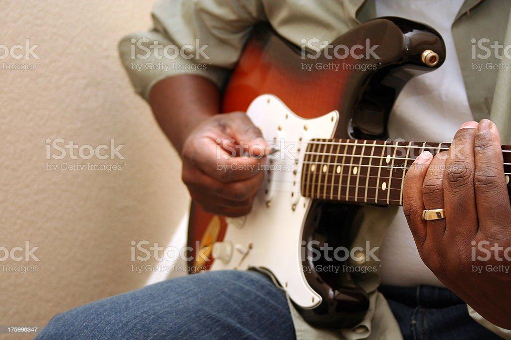 Guitar Practice royalty-free stock photo