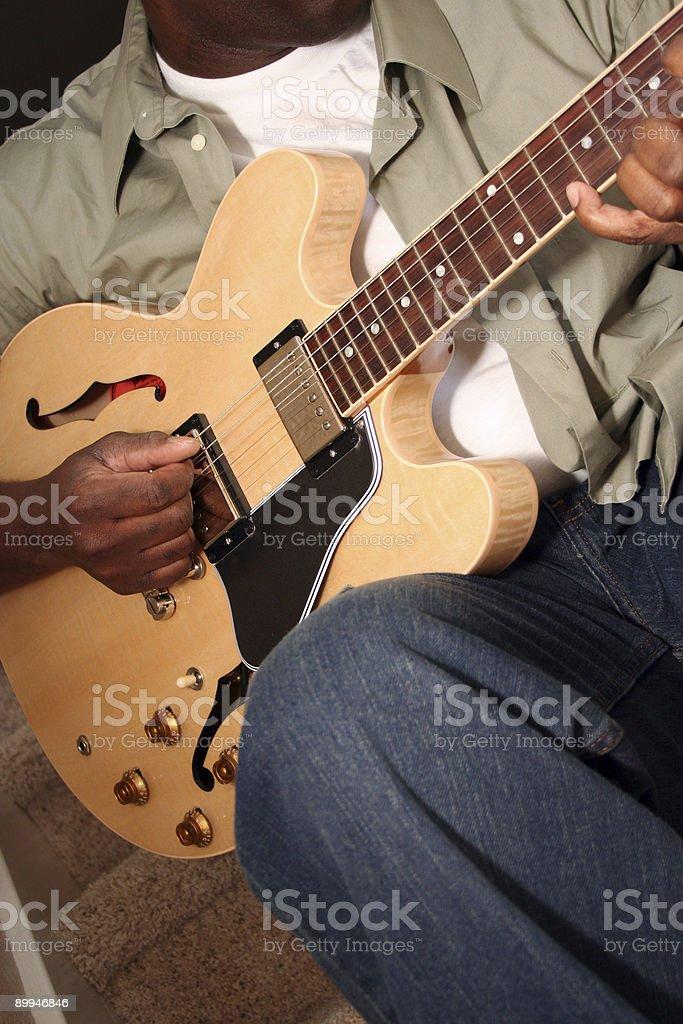Guitar Practice series royalty-free stock photo
