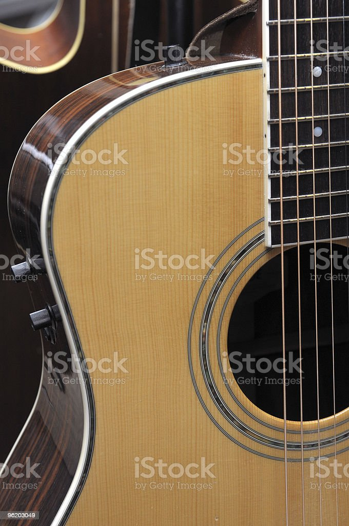 Guitar Profile royalty-free stock photo