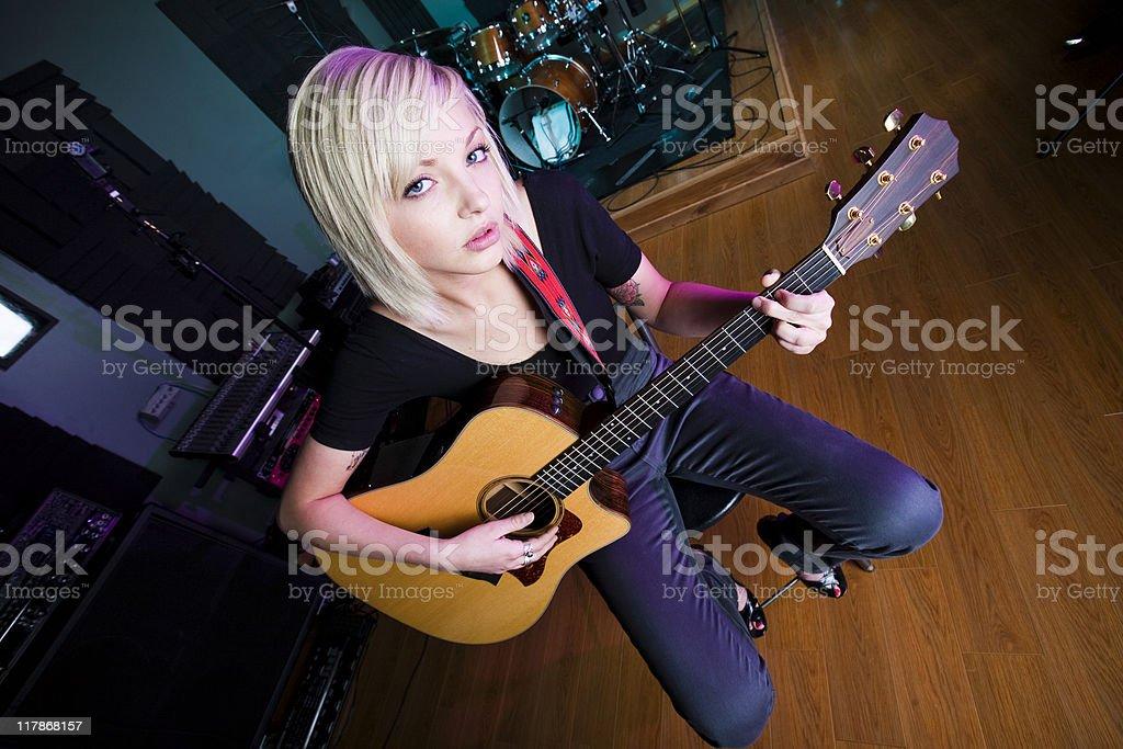 Guitar Soloist royalty-free stock photo
