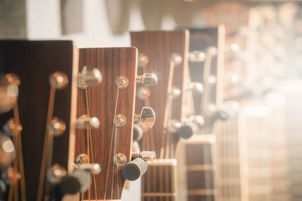 guitar store guitar store folk music stock pictures, royalty-free photos & images