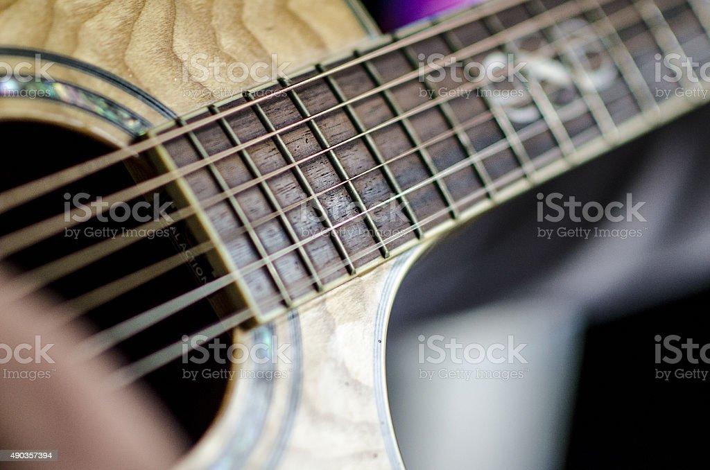 Guitar string stock photo