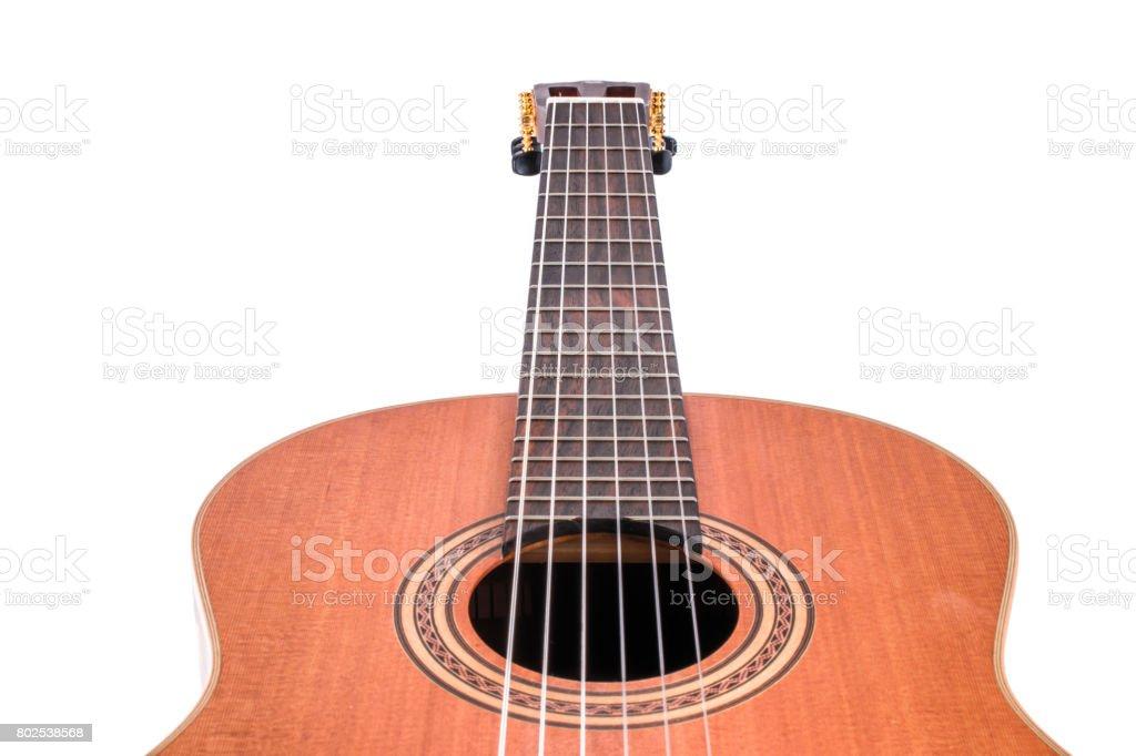 Guitar Strings, close up. stock photo