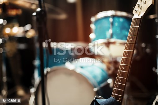 istock Guitar strings in studio 844085616
