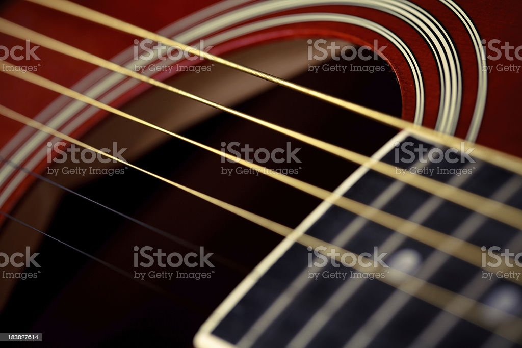 Guitar strings stock photo