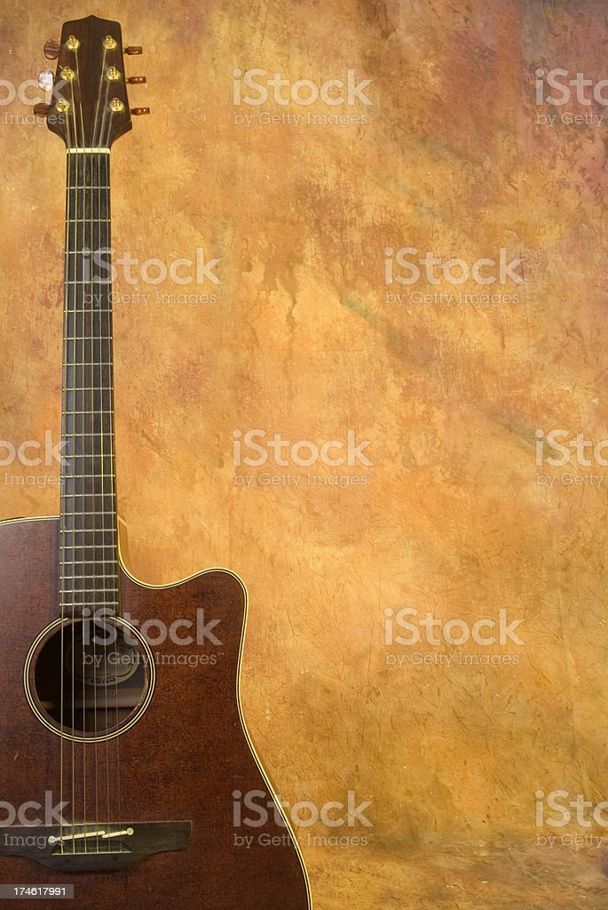 Guitar two royalty-free stock photo