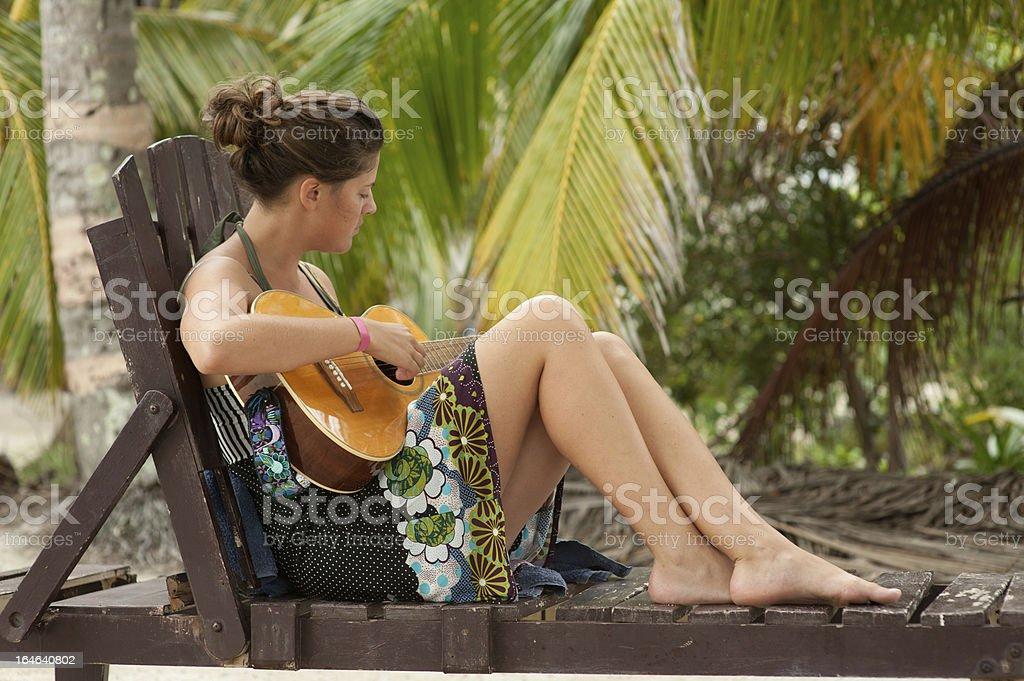 Guitar vacation royalty-free stock photo