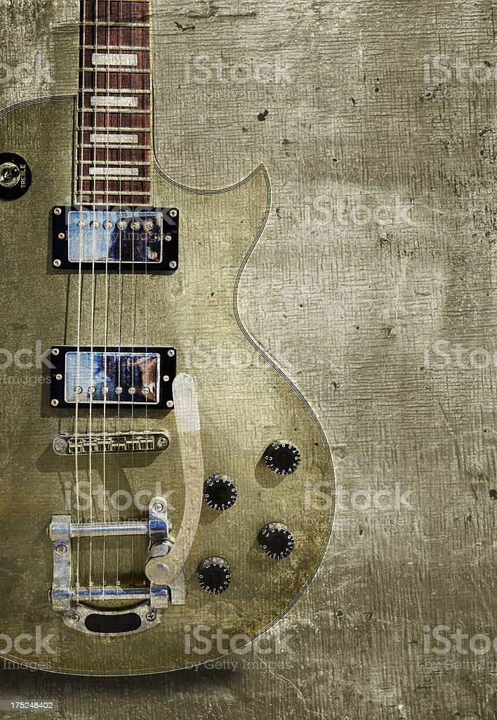 Guitar vintage background stock photo