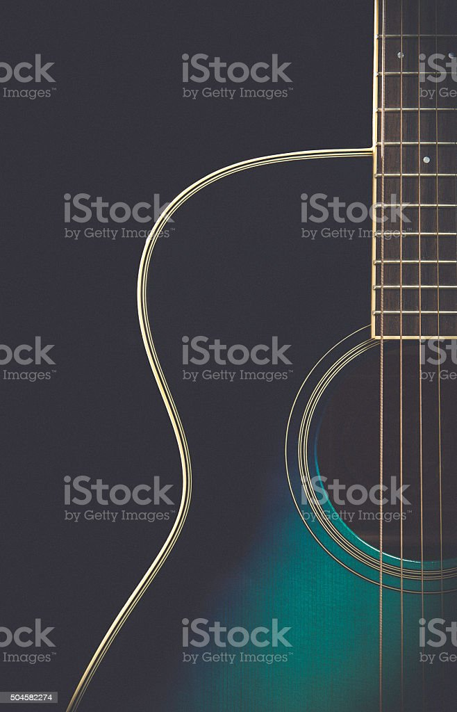 Guitar with matte retro finish stock photo