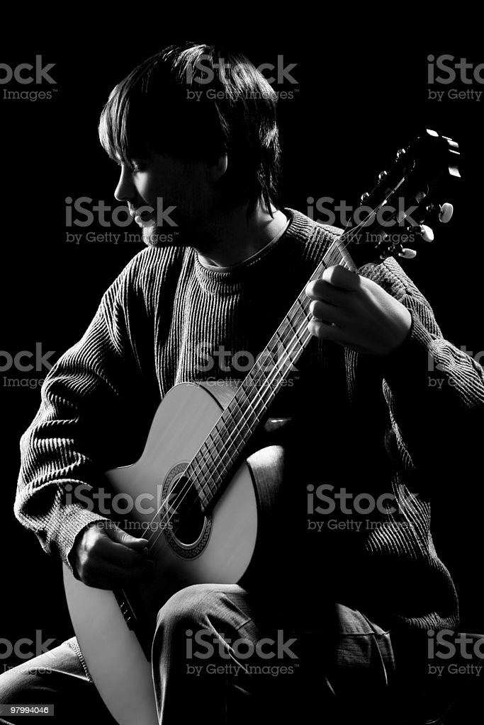 Guitarist. Concert party royalty-free stock photo