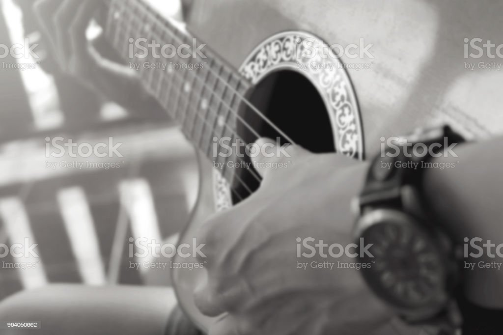 Guitarist for background, soft and blur. - Royalty-free Abstract Stock Photo