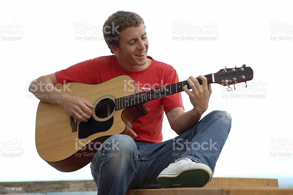 Guitarist royalty-free stock photo