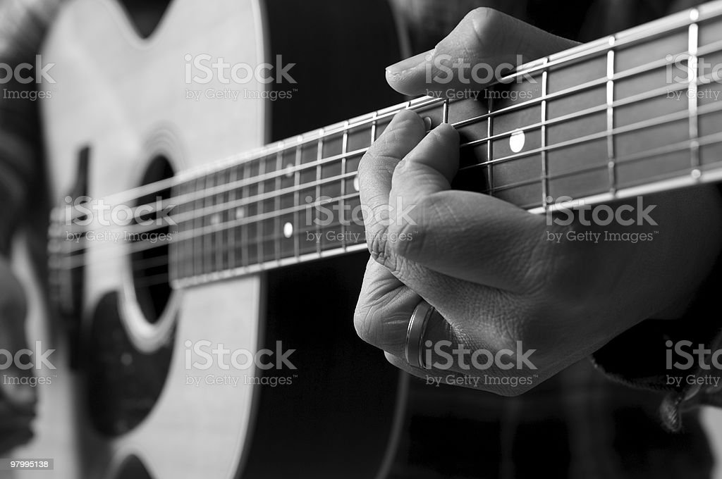 Guitarist royalty free stockfoto