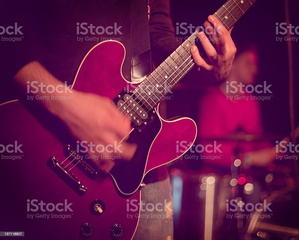 Guitarist Playing Guitar stock photo