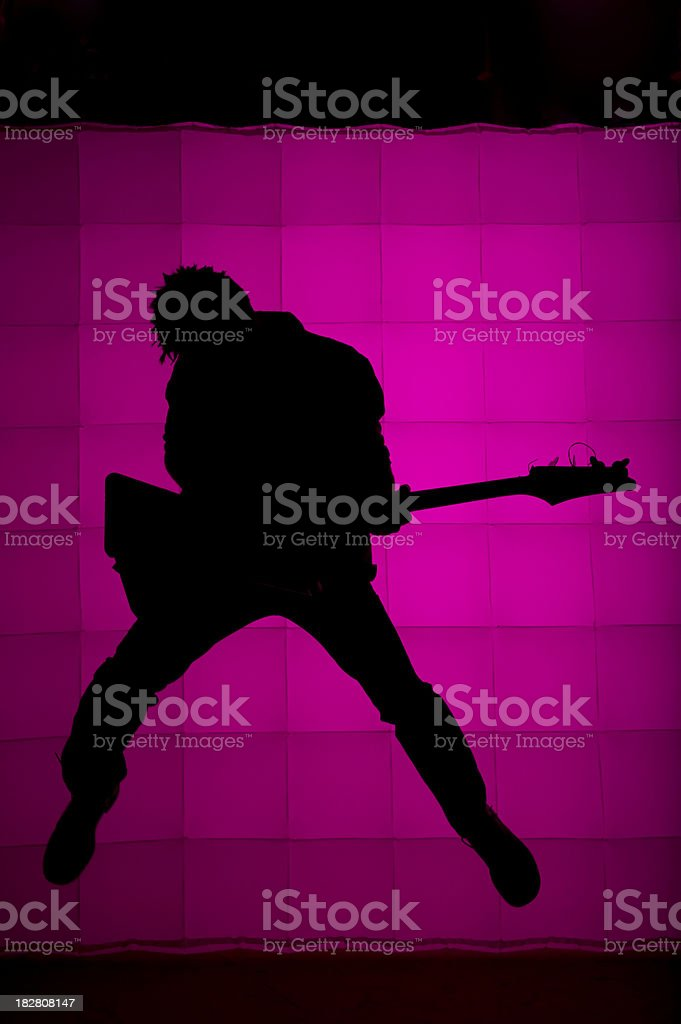 Guitarist Silhouette royalty-free stock photo