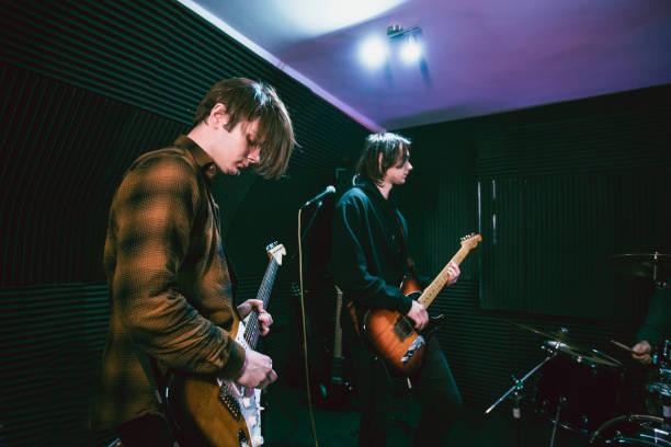Guitarists stock photo