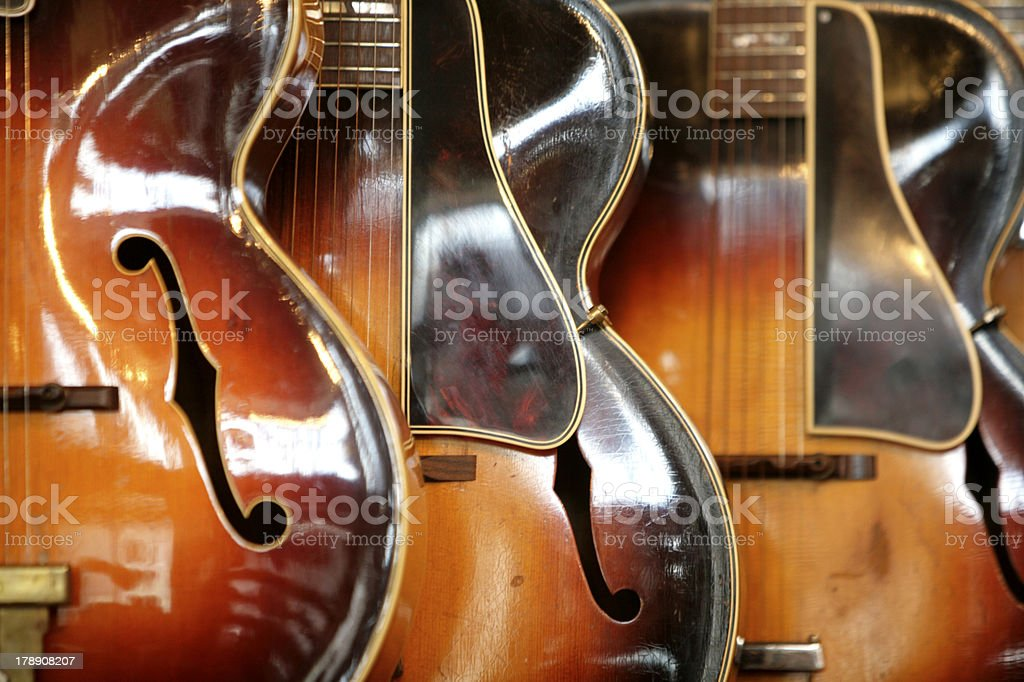 Guitars for sale stock photo