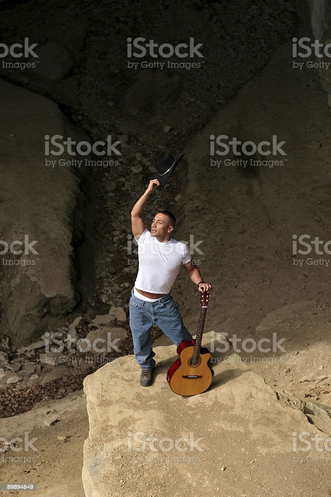 Guitary Freedom stock photo