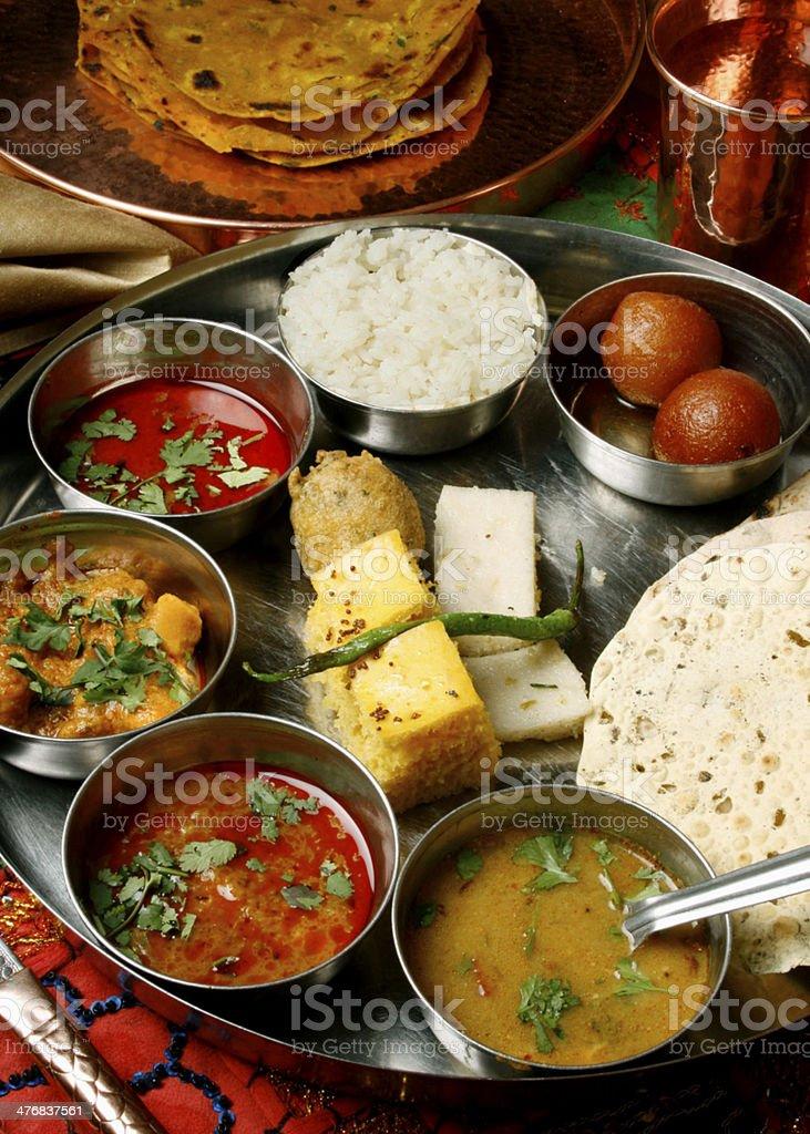 Gujarati Thali stock photo