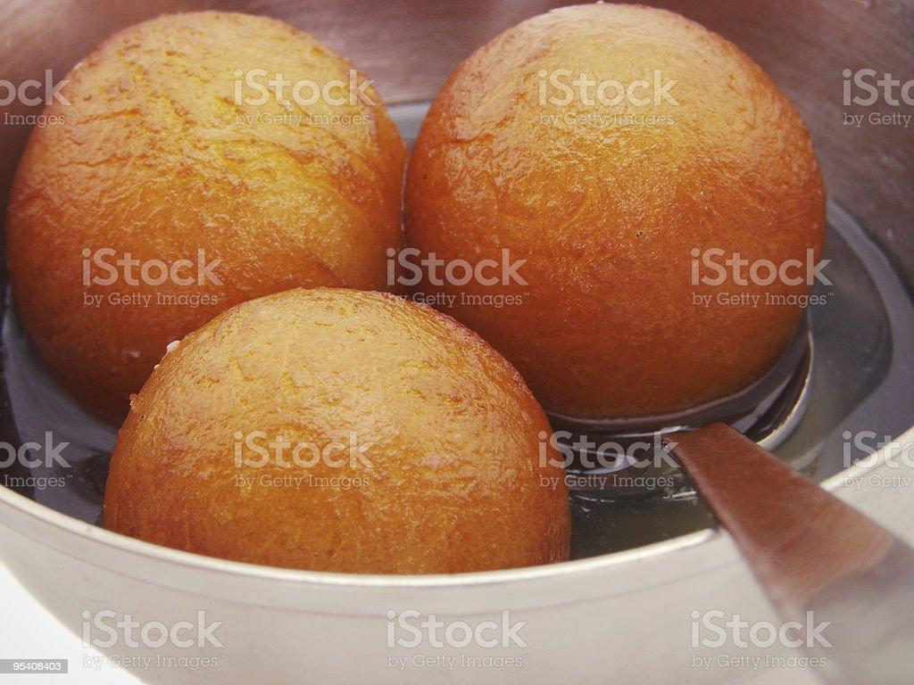 Gulabjamun indischen Süßigkeit Rezept Hintergrund Lizenzfreies stock-foto