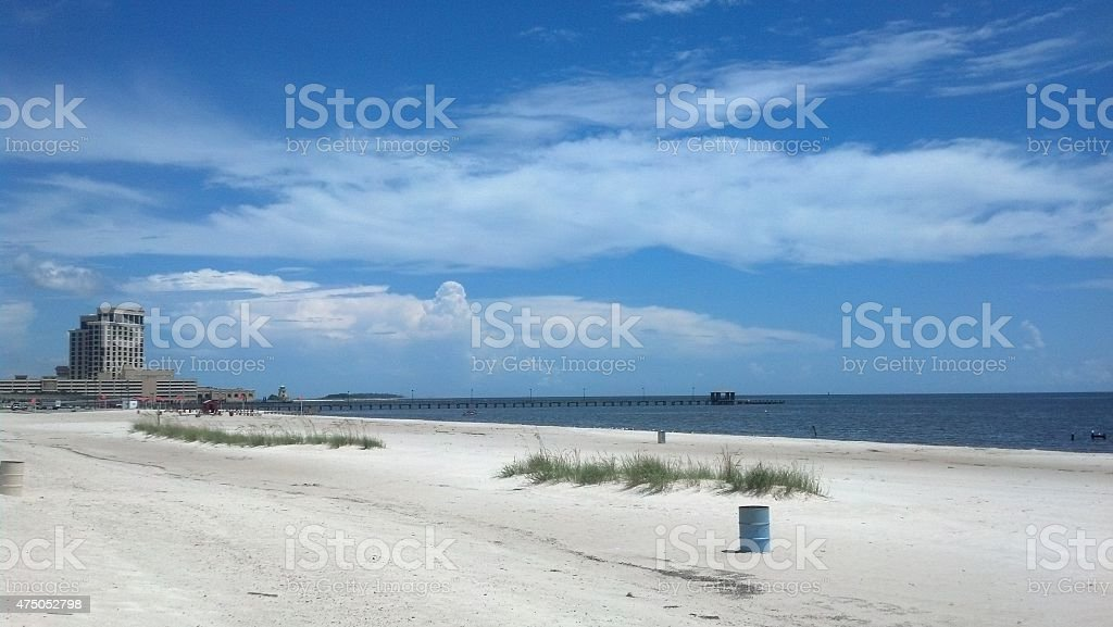 Gulf Coast Beach stock photo
