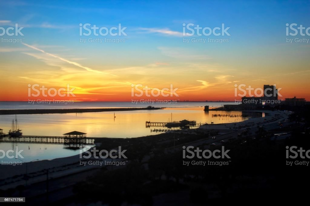 Gulf Coast City stock photo