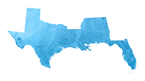 186815169 istock photo Gulf Coast States USA Topographic Map Isolated 471817457