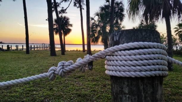 Gulf Coast Sunset stock photo