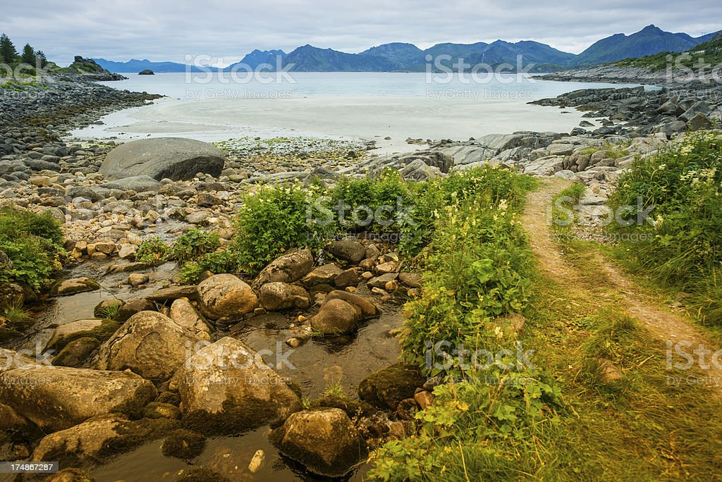 Gulf in Nordland royalty-free stock photo