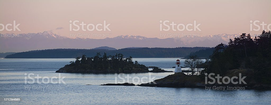 Gulf Islands Light House stock photo