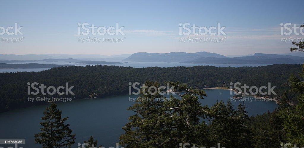 Gulf Islands panorama stock photo