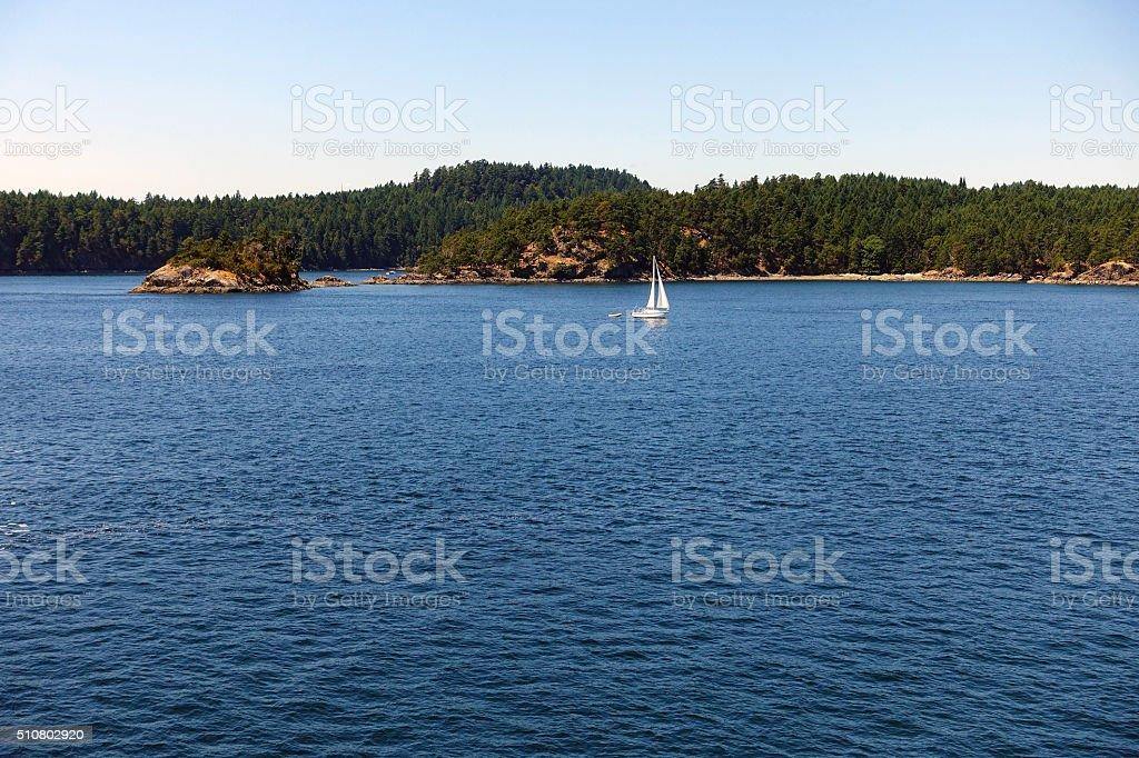 Gulf islands passage stock photo