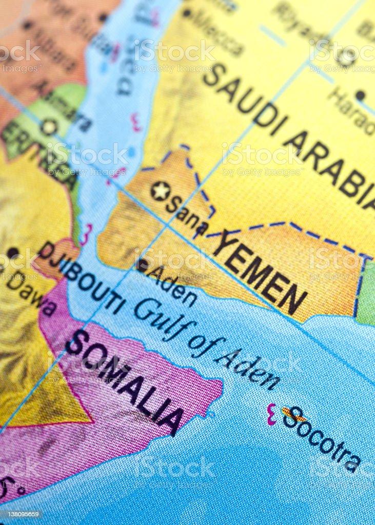 Gulf Of Aden Map Stock Photo Istock