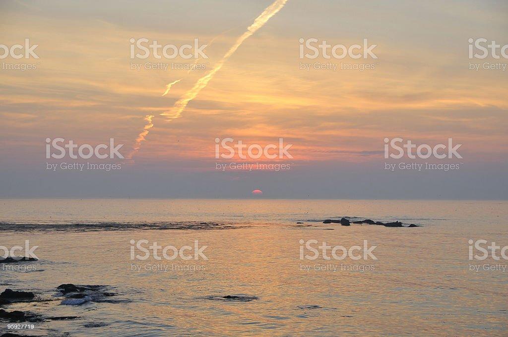 Gulf of Maine Sunrise stock photo