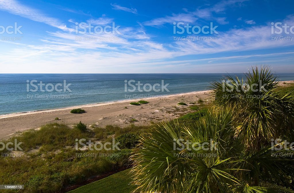 Gulf of Mexico afternoon View stock photo