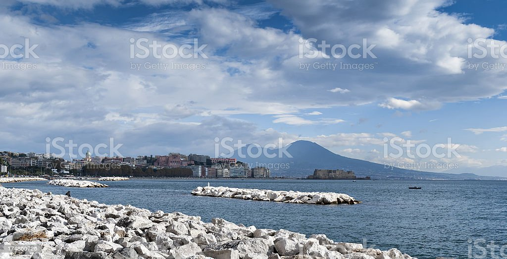 Gulf of Naples, Italy royalty-free stock photo