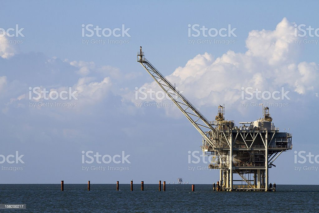 Gulf Oil Rig stock photo