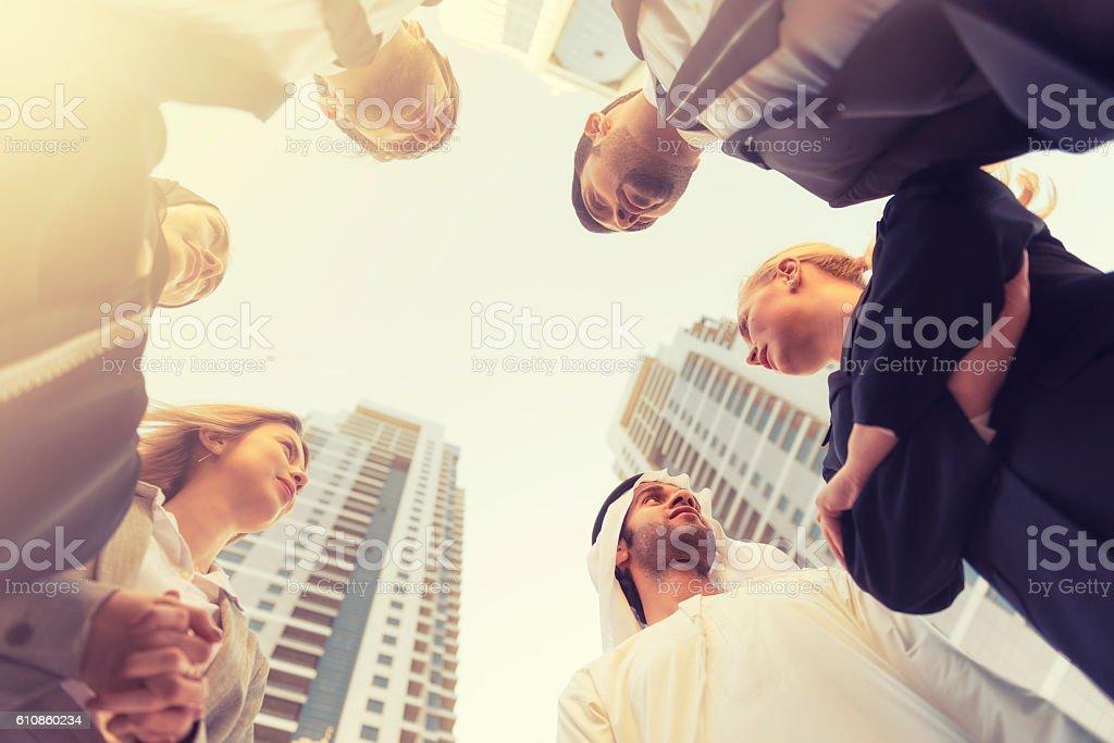 Gulf region business team stock photo