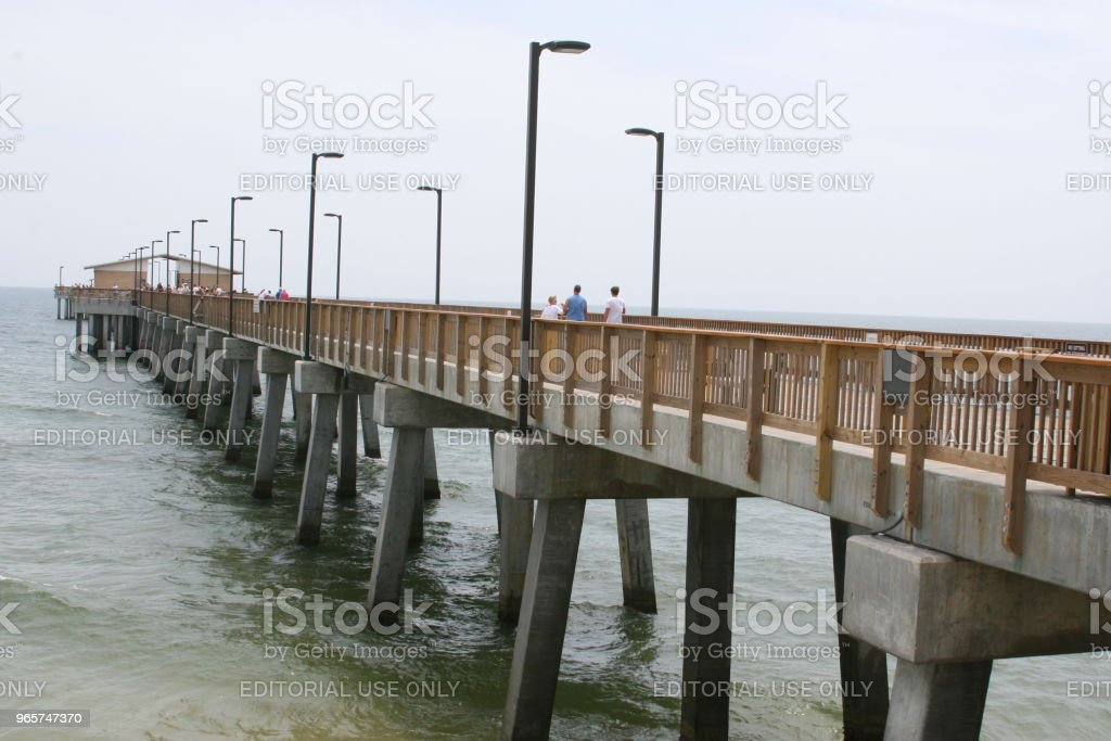 Gulf State Park Pier - Royalty-free Alabama Foto de stock