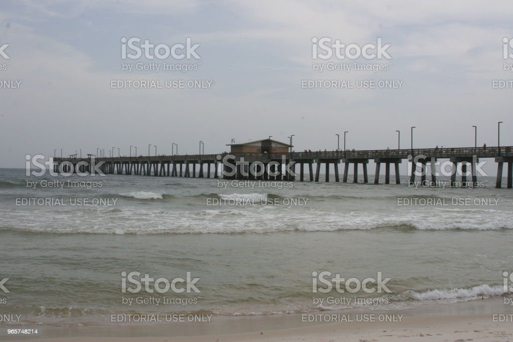Gulf State Park Pier Gulf State Park Pier located in Gulf Shores, Alabama Alabama - US State Stock Photo