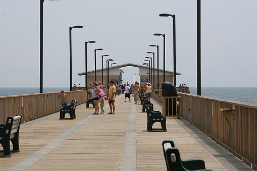 Gulf State Park Pier Stockfoto en meer beelden van Alabama