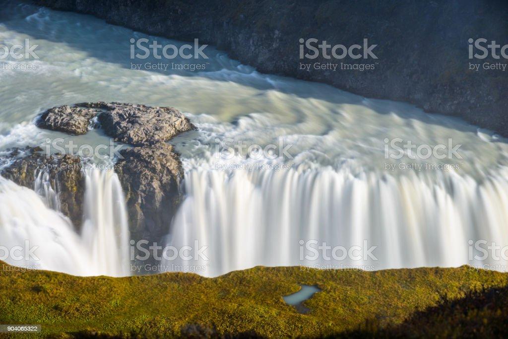 Gulfoss Waterfall, Iceland stock photo