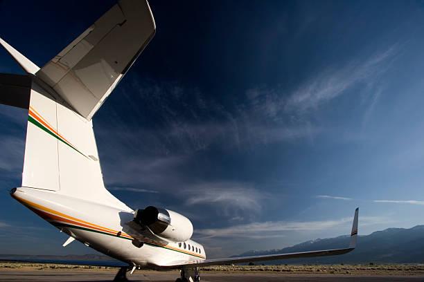 Gulfstream 4 Wide Angle stock photo