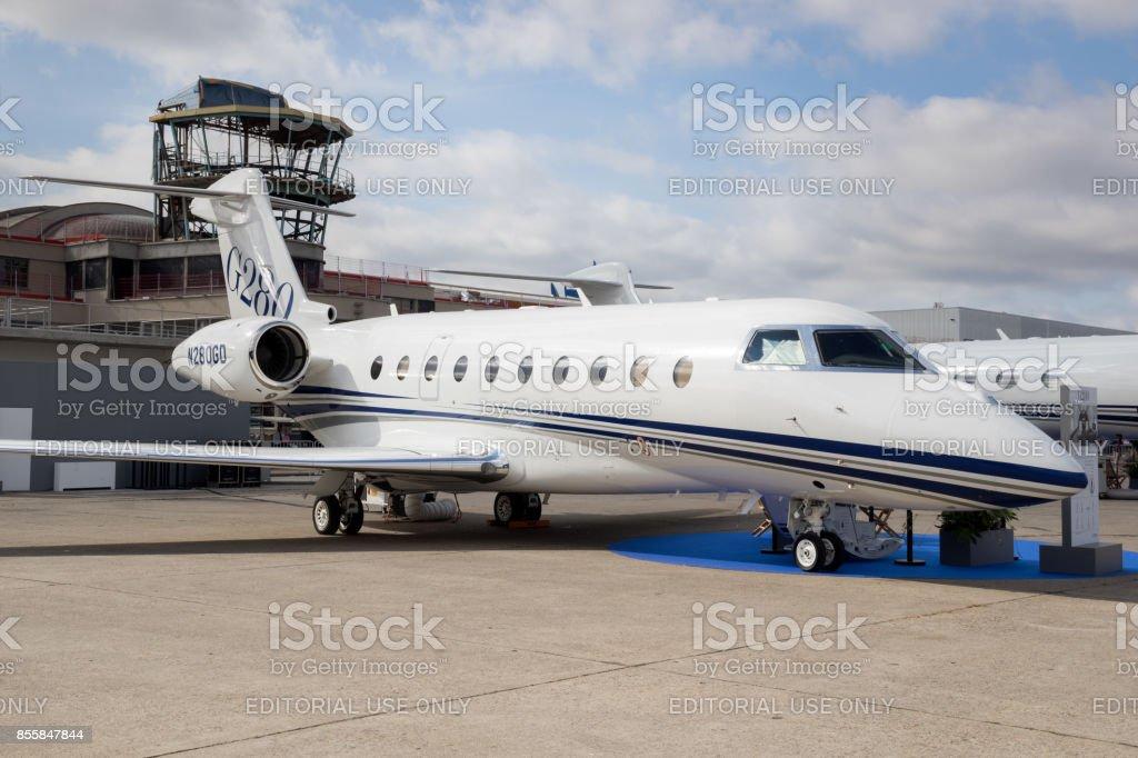 Gulfstream G280 business jet stock photo