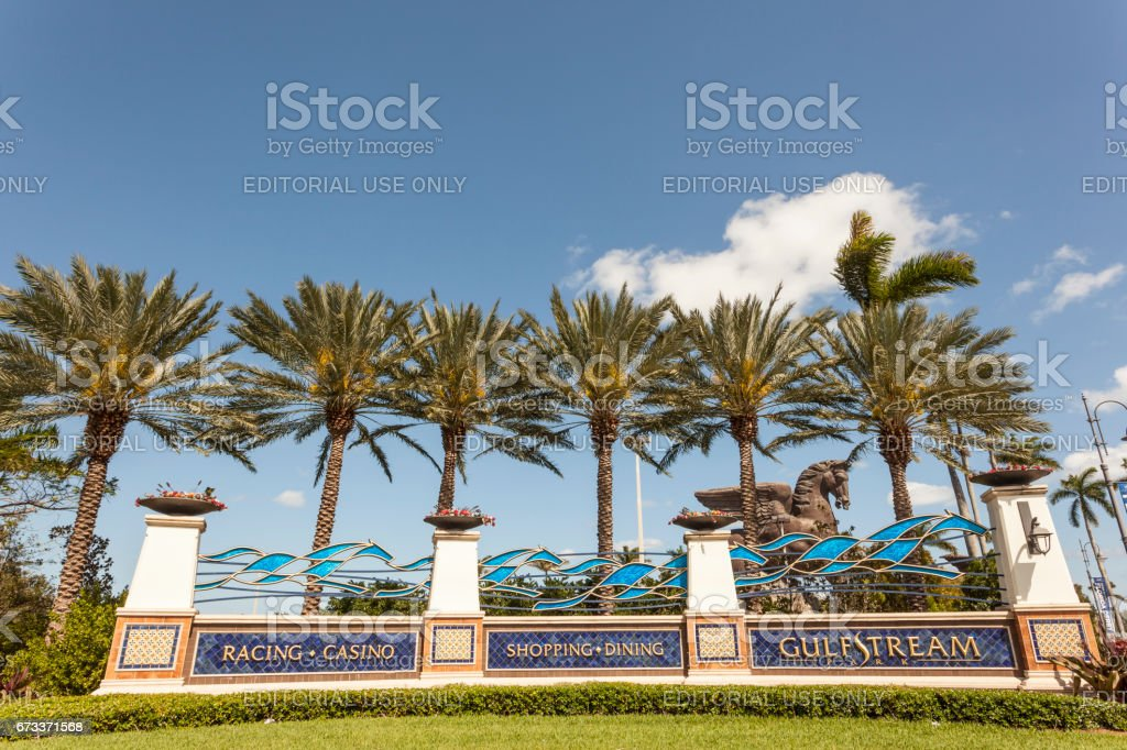 Gulfstream Park in Hallandale Beach, Florida stock photo