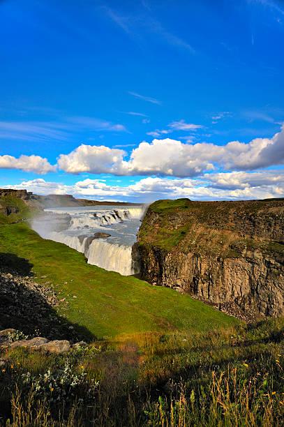 Gullfoss (Golden) Falls, Iceland stock photo