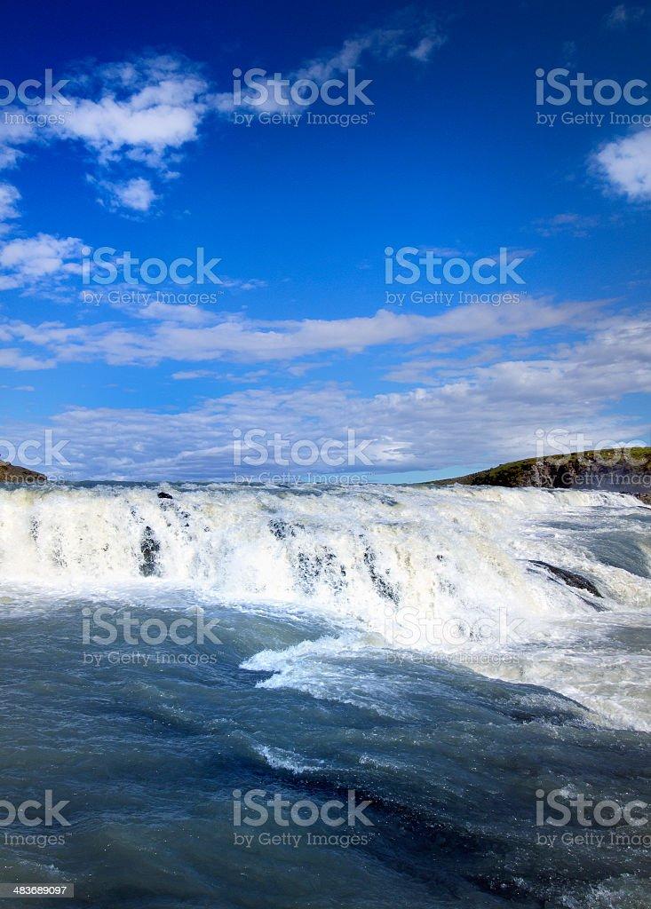 Gullfoss falls on Iceland royalty-free stock photo