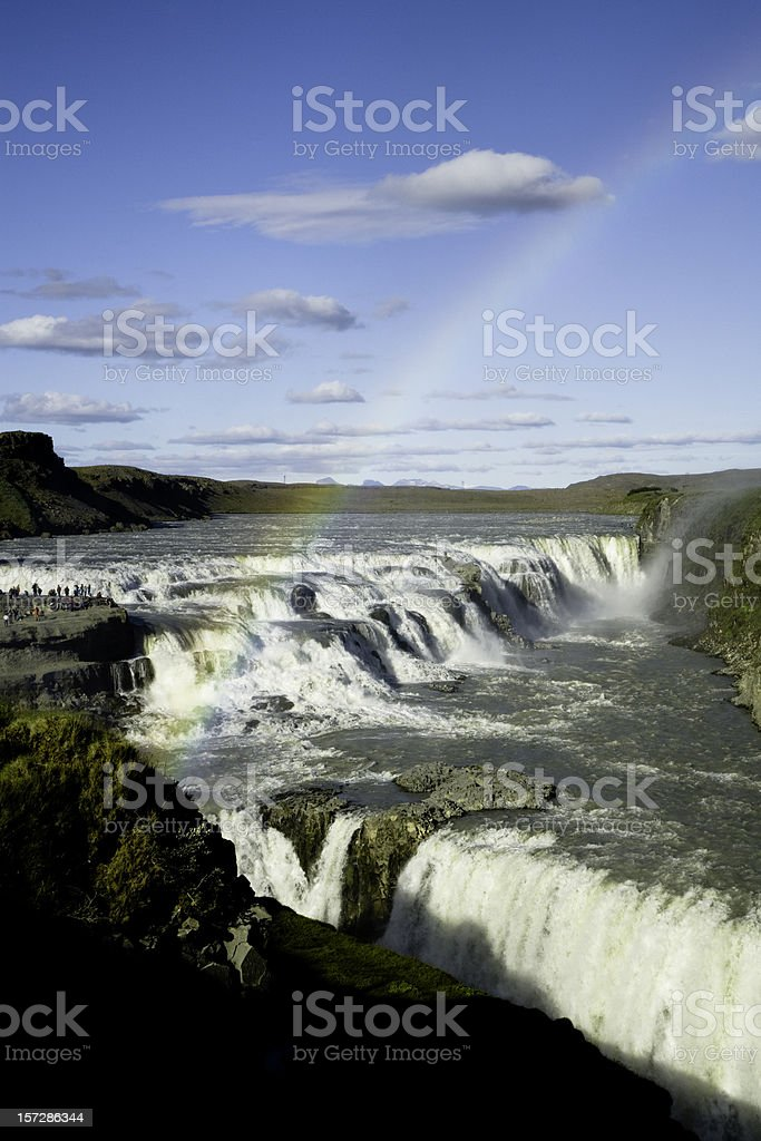 Gullfoss Waterfalls Iceland royalty-free stock photo