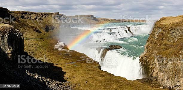 Photo of Gullfoss With Rainbow (XXL)